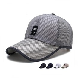 Wholesale Dome Skin - Fashion style Summer Outdoors Shade Hood Men's Long Eaves Skin Patch Baseball Hat Middle Aged Sun Hat WMB028
