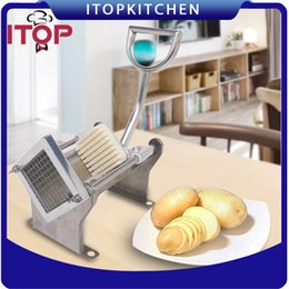 Wholesale Apple Cutting Machine - French Fry Cutting Machine Chips Potato Cutter Stainless Steel Vegetable Apple +3 Blades Fast Delivery