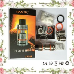 Wholesale Good Quality Clearomizer Atomizer - smoktech smok tfv8 the cloud beast full kit kits tank tanks atomizer clearomizer V8-T8 V8-Q4 Coils Top Refill refilling with good quality