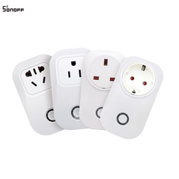 Wholesale Switch Uk - Sonoff S20 Smart Socket Wireless EU US UK CN Version WIFI Control Smart Power Plugs Timing Switch for Smart Home Automation 10A