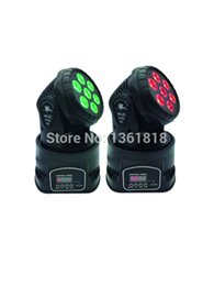 Wholesale Lamp Mini Led Moving Head - (2 pieces lot) led mini moving head dmx wash 7x12w rgbw led 4in1 leds wash dmx par light american dj light led lamp