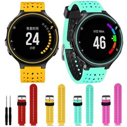 Wholesale Forerunner Garmin - Wholesale-Fashion Watch Straps Strap Soft Silicone Replacement Wrist Watch Band for Garmin Forerunner 230 235 630 Cinturino Orologio