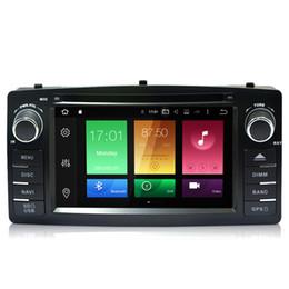 Wholesale toyota dvd gps car radio - 2G RAM Octa-core Android 6.0.1 Car DVD Tape Recorder For Toyota Corolla E120   BYD F3 GPS Navi RDS OBD DVR 4K Video Wheel Control USB 4G