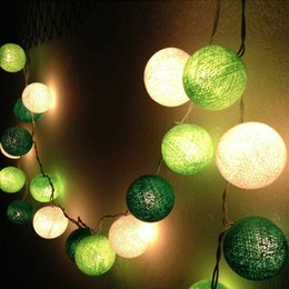 Wholesale Red Cotton Curtains - Wholesale-Cotton Ball LED String Light 3M 20LEDs Lamp For Holiday Christmas Garden Wedding Party Curtain Decoration Lights With US EU Plug
