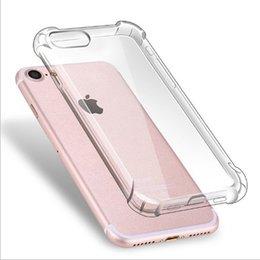 Wholesale Mobile Phone Crystal Cases - Crystal Transparent TPU Phone Case Gel Four Corner Airbag for Iphone7 Phone Case for Iphone5s 6s Plus Mobile