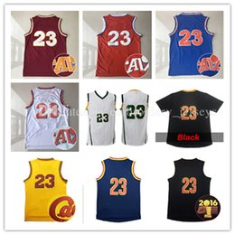Wholesale Cheap Men S Gold - cheap Men's Jersey #23 Stitched Throwback LBJ Basketball Jerseys Embroidery Logos Shirt Free Shipping