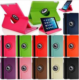 Wholesale Ipad Protection Cases - PU Leather 360 Degree Rotating Multi-angle Stand Folio Smart Wake Up Sleep Case Protection Cover for Ipad Mini 1 2 3 4 Air 2 Pro 9.7 12.9''