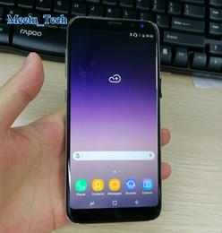 "Wholesale Dual Core Smartphones Gps - 2017 Unlocked Goophone S8 Plus Smartphones 2G RAM 16G ROM Quad Core 5.8"" 1920*1080 64bit Real fingerprint Dual sim Unlocked Cell Phones"