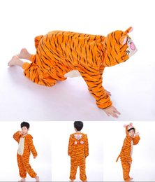 Wholesale Baby Winter Sleeping Suit - baby rompers kids sleeping gown pajamas for kids girls and boys pajamas suit animal shape rompers flannel material