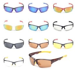 Wholesale Sun Wind Glasses - Hot Sell Cycling Sunglasses Bicycle Sun Glasses Fashion Colorful Wind Mirrors Sport Outdoor Eyewear Goggles UV400 for Men Women 10 Colors