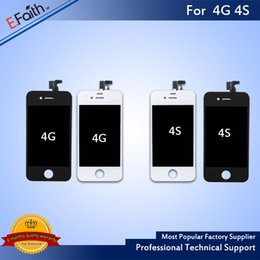 Wholesale Screen 4s - For LCD Display Grade A +++ iPhone 4 iPhone 4S GSM with Touch Screen Digitizer Replacement & Free DHL Shhipping