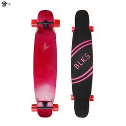 Wholesale Skateboard Double - DHL Free Four Roller Skating Double Rocker Adult Fashion Engraving Skateboard Kick Scooters 8 Layer Maples Shock Absorption High Quality