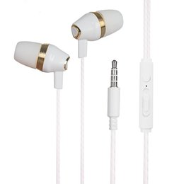 Wholesale Unique Ear Wires - Unique 3.5mm wired in ear Super Bass earphone Metal Earphones with MIC for Computer MP3 Universal Headset handphone for iPhone android