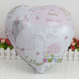 forma de corazón globos de aluminio Rebajas 50 unids / lote foil ballon suministros de boda globos felices para siempre globo en forma de corazón te amo globos