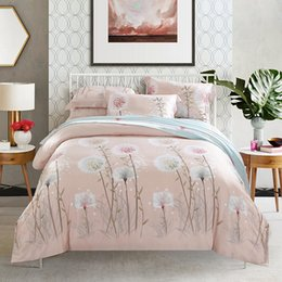Wholesale Peacock Feathers Bedding - Hot sale 2017 Home textile Printing ink printing four piece Tencel super soft bed linen bedding naked dandelion Peacock feathers