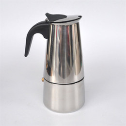 Wholesale Moka Pot Coffee Maker - 6 cups stainless steel Moka   home office coffee pot   filter coffee maker B1-600