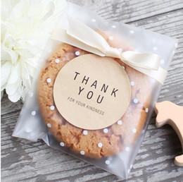 Argentina 100 unids / lote encantadoras galletas heladas bolsas de embalaje del punto blanco bolsas de plástico autoadhesivas, paquete de la hornada bolsas Suministro