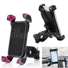 Wholesale Bike Smartphone Holder - 360° Universal Motorcycle Bike Bicycle Handlebar Mount 360 Degrees Holder For Smartphone GPS Devices iPhone Samsung HTC Xiaomi Huawei LG