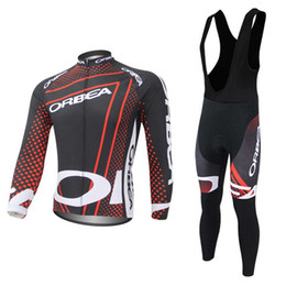 Wholesale Cream White Suits Men - Pro Team ORBEA Cycling Jerseys suit Long Sleeve bike maillot ropa ciclismo mtb bicycle clothing quick dry Men cycling clothing C0423