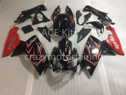 Wholesale Aprilia Rs125 Fairing Set - Injection mold Fairing KIT for Aprilia RS4 125 06 07 08 09 10 11 RS4 RSV 125 2006 2009 2011 Black Red ABS Fairings set+3gifts AP02
