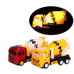 Wholesale Cement Truck Toy - fun music luminous universal cement mixer truck universal electric car model children's toy car puzzle