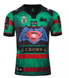 Wholesale Man Heats - Free shipping!NRL National Rugby League South Sydney Rabbitoh 2nd jersey High-temperature heat transfer printing jersey Rugby Shirts