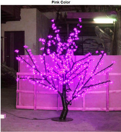 Wholesale Led Light Cherry Blossom - LED Cherry Blossom Tree Light 480pcs LED Bulbs 1.5m Height 110 220VAC Seven Colors for Option Rainproof Outdoor Usage Drop Shipping