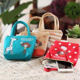 Wholesale Key Cases For Girls - Wholesale- QZH Cartoon Coin Purse For Women Girl Cotton Wallets Zipper Key Case Key Bag Change Purses Wallet Card Holder Coin Pocket Pouch