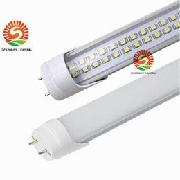 Sunway SMD3528 4FT 1200MM tubos 25W 28W doble línea LED chips Lámparas de tubo LED 50w Fluorescente Reemplazo 48