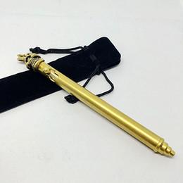 Wholesale Skull Bolts - Brass 150mm Long One Eye Skull Bolt Action Ballpoint Pen Detachable Firm Handfeel