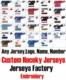 Wholesale Red Cotton Twill Fabric - Custom Any Hockey Jerseys With Any Name, Number Replica Home Away Mens Woman Youth Embroidery Tackle twill fabric Jerseys