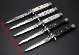 """Wholesale Fox 11 - 5 models 25cm Italy AKC 11 inch Acrylic handle single action pocket knife 9"""" 11"""" inch folding knife fox camping knives 1pc"""