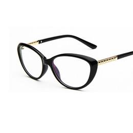 0ba5eeef58 Al por mayor-Marca de diseño de las mujeres Sexy Cat Eye Glasses Frame  Optical Myopia Eyewear gafas espejo simple computadora oculos de grau  feminino