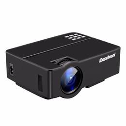 Wholesale Via Hdmi - Wholesale- Excelvan E08 LCD Projector Home Cinema 1080P 2500Lumen Support Multi-screen Interaction Via Data Cable PK AM01 Portable Projetor