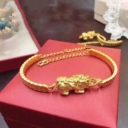 Wholesale Yellow Gold Bangles - Pure 999 24K Yellow Gold Necklace 3D Lucky Coin Chain Bangle Bracelet   6g