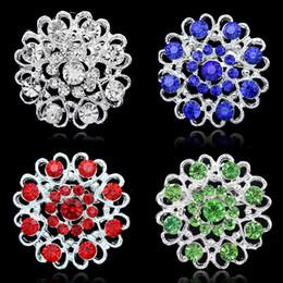 Wholesale Red Pearl Gemstones - silver rhinestone brooch bouquet big brooches hijab pins and crystal rhinestone brooches wedding gift woman fashion Y#126