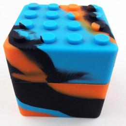 Wholesale Rubber Slicker - 20 Pcs Lot Oil Slicks Silicone Oil Wax Container Jar 60 Ml Large Lego Silicone Case