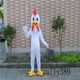 Wholesale Chicken Costume White - 2017 new adult animal white chicken Halloween stage performance mascot doll costume props costume adult size