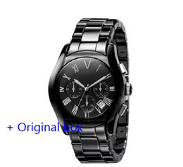 Wholesale Mechanical Time - The wholesale quartz watch is timed for the ar1401 ar1401 ar1410 ar1411 men's watch crime leisure luxury fashion watch military ceramic watc