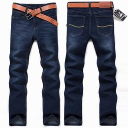 Wholesale Wholesaler Branded Jeans - Wholesale- free shipping 2017 summer style men jeans brand business style Skinny Denim Pants high quality famous designer denim jeans