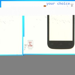 Wholesale Digitizer Flying - Wholesale- 4'' Mobile Phone Touch Screen Sensor Lens Touch Panel For Fly IQ445 Front Glass Touchscreen Digitizer Panel Parts