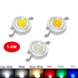 Wholesale Led Bulb Blue Red High - Real Full 1W 3W High Power LED lamp 110-120LM Emitting Diodes SMD LEDs Bulb light Chip for 3W - 18W Downlight Spotlight