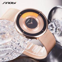 Wholesale Sinobi Fashion Crystal - Sinobi Luxury Brand Men 'S Watches 2017 Fashion Creative Gold Ladies Quartz Watch Women Bracelet Wristwatches Relogio Masculino