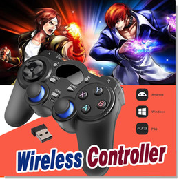 Wholesale Universal Tv Box - Universal 2.4G Wireless Game Controller Gamepad Joystick Mini keyboard Remoter For Android TV Box Tablets PC Windows 8 7 XP With Package