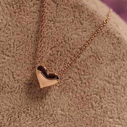 Wholesale Heart Necklaces For Cheap - Wholesale-China Cheap Necklace Fashion Elegant Sweet Silver Golden Heart Necklace Short Clavicle Collar Chain Necklace For Women Female