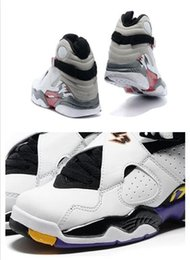 Wholesale new style basketball shoes - New Style Alternate 8s RELEASE 8s GS THREE-PEAT 8s sneakers basketball shoes Sports shoes For Men size 41-47