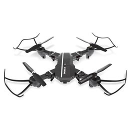 Wholesale Rotor Led - Foldable RC Quadcopter Drones 2.4G 4CH 6-Axis Gyro Drone Dron Altitude Hold Headless Mode RTF Drones 0.3 2MP with LED Lights RC Toys