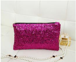 Wholesale Women Wallet Fashion Style Sparkle - 5Pcs lot Newest Fashion Dazzling Glitter Sparkling Bling Sequins Evening Party purse Bag Handbag Women Clutch wallet