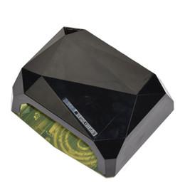 Wholesale Nail Polish Air Dryer - Hot Selling LED UV Lamp 36W 110-220V LED Lamp Nail Dryer Diamond Shape Long Life Fast Dry 36w LEDCure For UV Nail Gel Polish US EU Plug