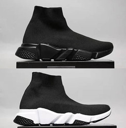 Wholesale Famous Brands Socks - New Paris Famous Brand Fashion Casual Shoes Hight Top Sneakers Sock Shoes Speed Trainers for Men and Women
